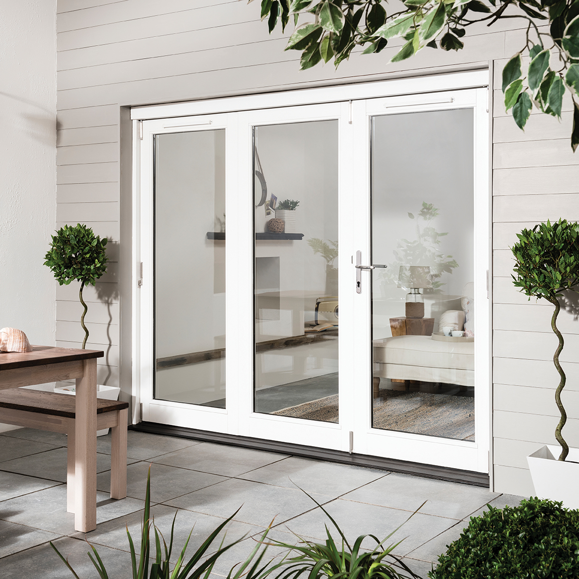 Timber Folding, Sliding & French Patio Doors | Exterior Bifold Patio on