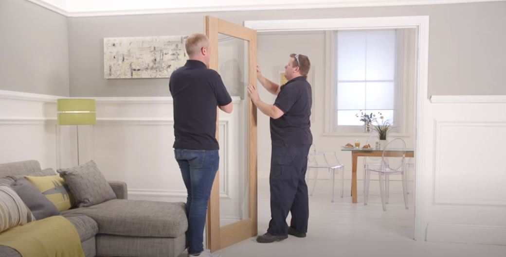 How to install a pair of doors