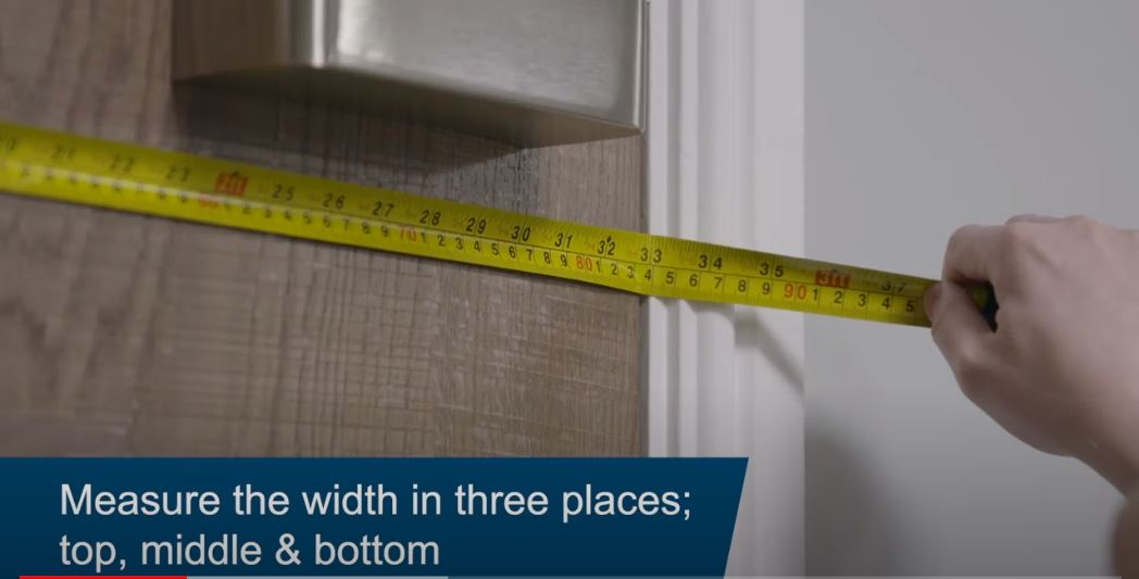 How to measure a door